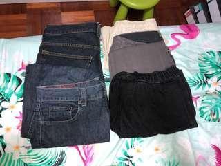 Denim Jeans H&M Springfield Hollister waist 30-32