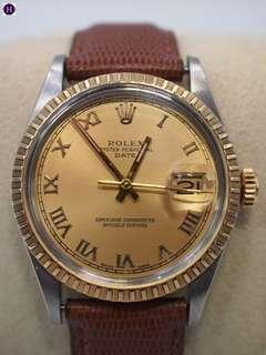 Rolex 1505 Gold Dial With Leather Strap