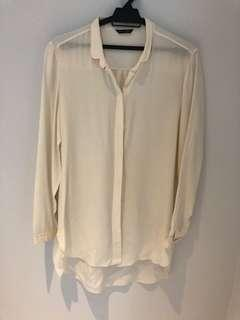 Massimo Dutti Off white/Cream Shirt