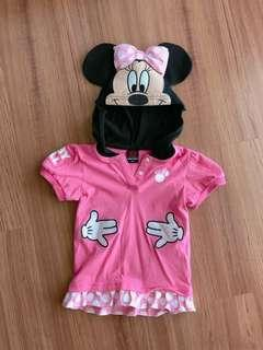 Minnie Mouse girl top from Disney Japan