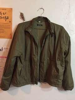 🚚 古著墨綠鋪棉外套