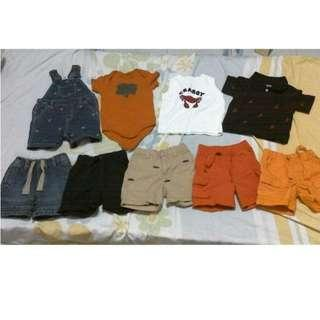 New Gymboree baby boy clothes, 10 pieces for 6-12 months + free set of used clothes