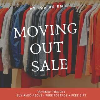 MOVING OUT CLEARANCE SALES