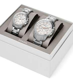 Fossil couple watch set FS5124