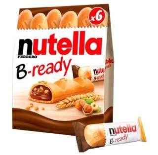 Nutella B Ready clear stock