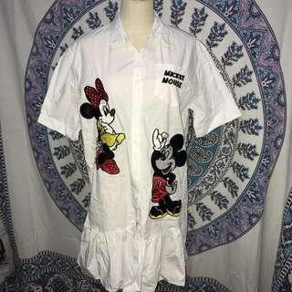 Weird Mickey Mouse White Dress