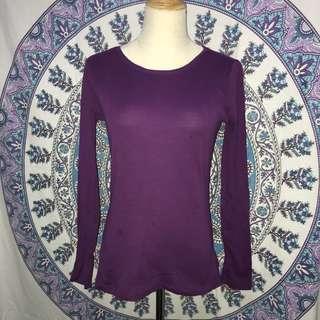 Purple long sleeve tee
