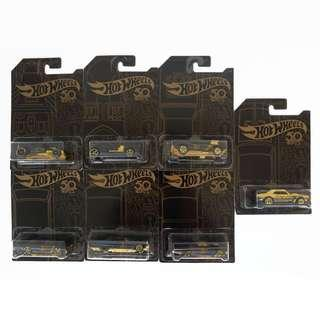 COMPLETE SET Hotwheels 50th Anniversary with CAMARO GOLD Chase