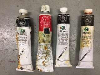 黑色油畫顏料 Black Oil Colour 170ml