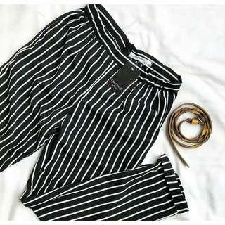 Stripe Pants Tag Zara