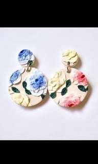 OAKNSTYLE clay roses earrings