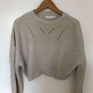 M Boutique cropped sweater