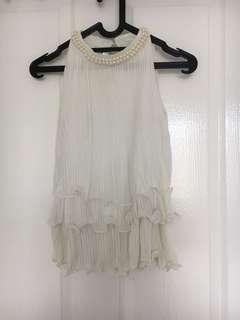 White Pearl TOP/blouse sleeves
