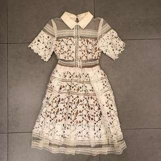 Brand new white lace dress op 白色連身裙