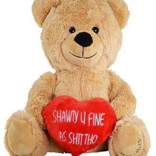 🚚 Hollabears Shawty U Fine As Shit Tho Teddy Bear