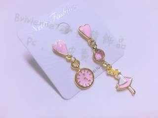 愛麗絲耳環/粉色