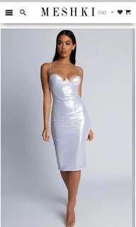 Silver Meshki Dress