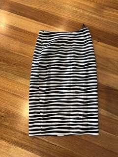 Marcs striped pencil skirt size 6