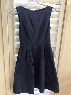 Cue blue fit and flare dress