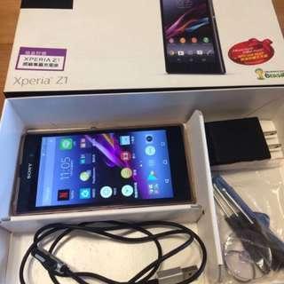 誠可議 Sony Xperia Z1 紫 讀不到SIM 已更換電池 原廠盒裝