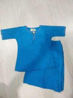 Blue Thai Silk Baju Kurung