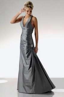 Silver Grey Prom/Bridesmaid dress