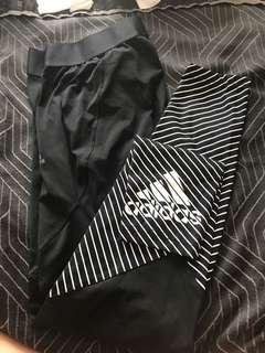 Adidas full length gym tights, size L
