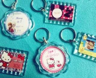 Personalized Acrylic Keychain for Souvenir or Giveaways