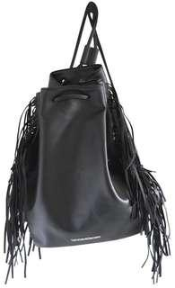 Victoria Secret Fringe Black Faux Backpack