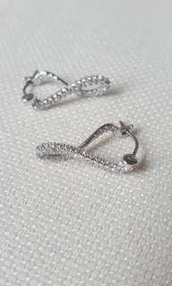 Real Swarovski brand infinity earrings + free pair