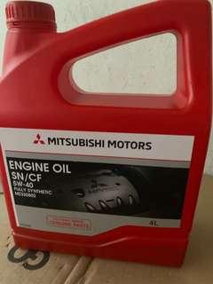New Mitsubishi Motor Engine Oil SN/CF 5w-40 fully synthetic 4L
