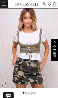 Princess polly camo skirt