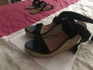Black wedges size 9