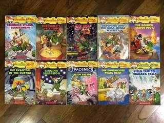 Assorted books by GERONIMO STILTON