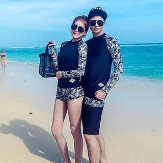 In Stock 💕Couples Korean version of UV Rash Guard,  Swimsuit, Swimwear, Beach Wear, Sport wear