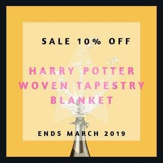 💥SALE💥$ BEFORE DISCOUNT💥Harry Potter Woven Tapestry Blanket!!