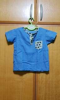 🚚 [Pre-Owned] Boy Top shirt blue