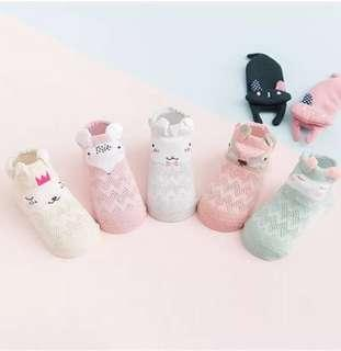 🚚 5 pairs of adorable animals socks/booties for baby
