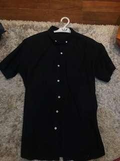 Zalora Button Down (Black)