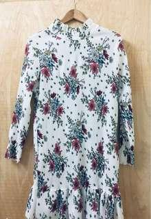 Pleated Floral Top