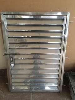 Stainless steel louvred Door