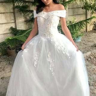 White Gown / Wedding Gown (FOR SALE)