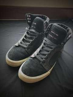 Supra Muska 001/ Street wear/ High cut/ Skate Shoes/ Men/ Black
