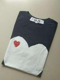 T-shirt play navy by CDG