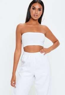 BRAND NEW Petite White Basic Bandeau Top