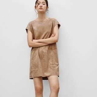 ARITZIA WILFRED FREE SUEDE NORI SHIFT DRESS
