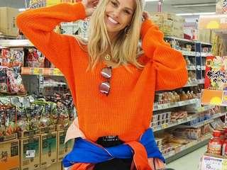 Orange boohoo jumper