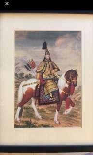 Framed Emperor Qianlong On Horseback