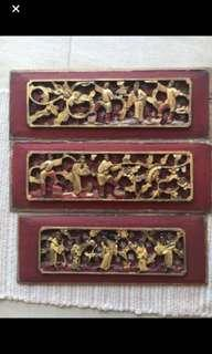 Genuine Antique Chinese Wooden Panels