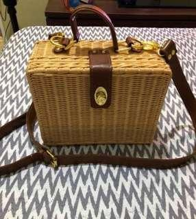 "Rattan Basket Bag ""ata bag"""